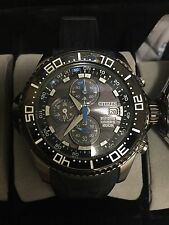 Men's Citizen Eco Drive Diver's Depth Watch bj2115-07e