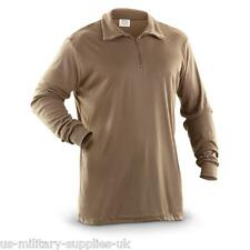 NEW GENUINE US ECWCS POLYPRO COLD WEATHER THERMAL UNDERSHIRT/SHIRT. XXL. BROWN.