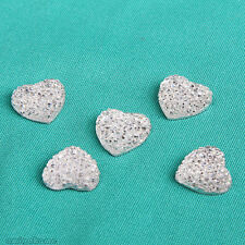 20PCS Resin Heart Shaped Easy to Use Scrapbooking for phone/wedding/craft x