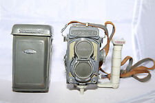 Yashica-44 TLR with Flash Handle & Strap - TESTED & Works - No Fungus/Scratches!