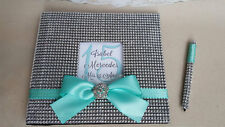 Quinceanera Guest Book Set-Any Color- Tiffany Bling Guestbook Mis Quince Anos 15