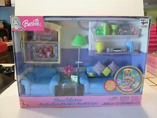 NIB: Barbie: Decor Collection  LIVING ROOM Playset, Barbie Mattel #B6274