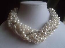 N064 1920's Gatsby Art Deco Nouveau Audrey Hepburn LUX Pearl Necklace ***30
