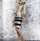 Mother of the Bride Dress Striped Knee-Length with Satin Jacket Formal Outfits