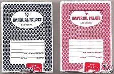 12 AS-IS decks Imperial Palace Hotel Casino Playing Cards Las Vegas BIue & Red