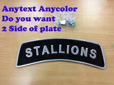 Motocycle Ural Dnepr Honda Chopper Enfiel ANYTEXT FRONT FENDER LICENSE PLATE
