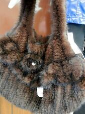 NWT Genuine Quality Mink Fur Large purse/tote
