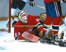 KEN DRYDEN @ ICE LEVEL Covers PUCK 8x10 Photo MONTREAL CANADIENS HOF Goalie GR8