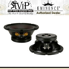 "Eminence Alpha-8A 8"" Mid-Bass 250W Mid-Range Pro Audio Speaker 8-Ohm (PAIR) NEW"