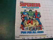 vintage 1976 THE SUPERHERO MERCHANDISE CATALOG comic form i show all pages