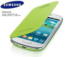 SAMSUNG Galaxy S3 Mini i8190 genuino, originale Flip Cover-verde menta