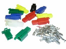PACK of 10 Motorcycle Mini-Latch - Wiring Connector Sets (2.8mm) - 2 way COLOURS