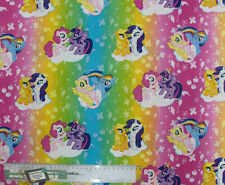 Patchwork Quilting Sewing Fabric MY LITTLE PONY Material Cotton 50x55cm FQ New