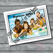 Personalised Photo And Text Fridge Magnet - Make your own!