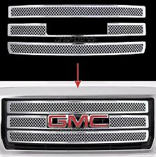 2014-15 GMC Sierra 1500 CHROME Push On Grille Overlay 3 Bar Grill Covers Inserts