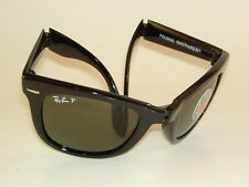 New RAY BAN  Sunglasses  FOLDING  WAYFARER  RB 4105 601/58 Polarized Green  54mm