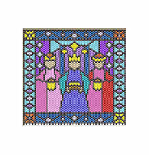 Nativity~Three Kings~Beaded Banner Pattern Only