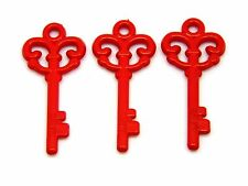 10 Pcs 61mm Red Opaque Valentine  Keys Acrylic Magic Xmas Love Key Q95