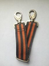 Nautica Luggage Adjustable Clip/Snap-Hook Strap Replacement Orange&Blue Striped