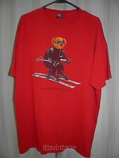 Vintage XL Polo Ralph Lauren Made in USA Ski Bear RL 2000 Short Sleeve T Shirt