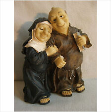 MERRY DRINKING MONK AND NUN   . LATEX MOULD/MOULDS/MOLD