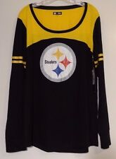 New! Pittsburgh Steelers NFL Womens Long Sleeve Logo Shirt Size XXL / 2XL NWT