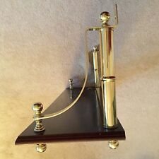 """Large Wood Shelf with Brass Hardware Accents 30"""" x 8 3/4"""" x 11 3/4"""""""