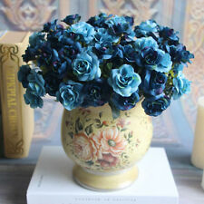15-Head Bouquet Handmade Fake Silk Rose Flowers Floral Home Wedding Decoration