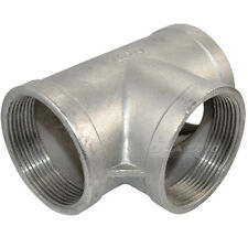 "2"" Tee 3 way Female Stainless Steel 304 Threaded Pipe Fitting NPT NEW CH"