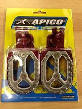 HONDA  CRF 450 R 450 X   2002-2017  APICO PRO BITE WIDE FOOTPEGS FOOT RESTS PEGS