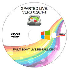 GPARTED LIVE 0.26.1-1 -  PARTITION/DISK MANAGER - 32/64BIT - WIN/MAC/LINUX