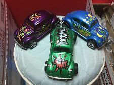 (3) 1988 hotwheels volkswagen bugs all original and minty condition