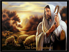 JESUS the Great Shepherd Repositionable Color Wall Sticker Bible Print 27x20
