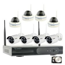 Indoor Outdoor Wireless Camera Home Surveillance Security Systems 2TB Hard Drive