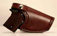 Sig Sauer P938 P238 Colt Mustang Handmade Leather Belt Clip Holster - Right