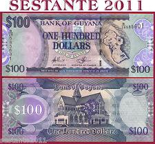 GUYANA  -   100 DOLLARS 2009  -    P   36b (1)   -   FDS / UNC