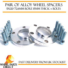 BMW Alloy Wheel Spacers Spacer Kit 5x120 72.6 15mm + 14x1.25mm 40mm Long Bolts