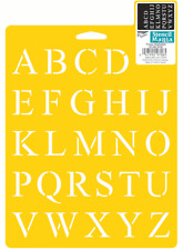 ALPHABET STENCIL CRAFT LETTER LETTERS NUMBERS NUMBER ART TEMPLATE NEW BY DELTA
