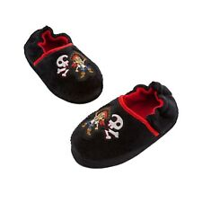 $13.00 NEW BLACK DISNEY JAKE THE NEVER LAND PIRATES SLIPPERS TODDLER SIZE 5/6