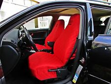 Front Seat Covers for Audi A2 , A3 , A4 , A6 , 80 , 90 RED