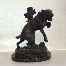 Beware of the dog Passez au large bronze sculpture Charles Valton french 19 cent