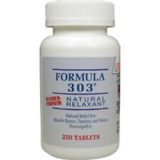 Formula 303 Natural Relaxant 250 Tabs Pain Relief & Muscle Spasm FREE SHIPPING