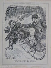 "7x10 ""PUNCH CARTOON 1925 sport invernale in Russia la frittata il Trotsky"
