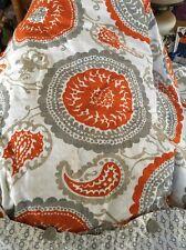 Threshold Suzanni Duvet Cover Pillow Shams Orange Gray Medallion Bed spread KING