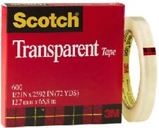 "3M Scotch 1/2"" x 72 Yards, Transparent Tape 600"