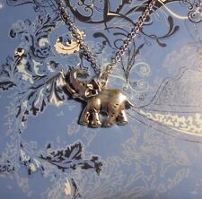 Large Elephant Charm Chain Silver Necklace**~$1 SHIP