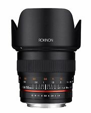 New Rokinon 50mm F1.4 Full Frame Lens for Sony Alpha Digital SLR Cameras