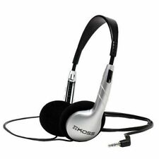 NEW Koss UR5 Ultra Light Wired Headphones with Adjustable Headband - Silver