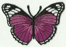 écusson ECUSSON PATCHE PATCH THERMOCOLLANT PAPILLON FUSCHIA ET NOIR 7 X 5 CMS
