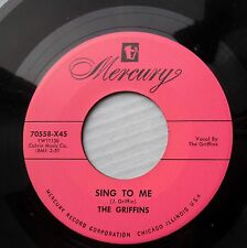 GRIFFINS doowop Mercury REPRO 45 Sing to me I swear by all the stars above bb100